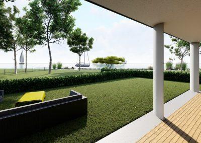 VillaparkAkarattya - látványkép - kilátás a kertből a Balatonra