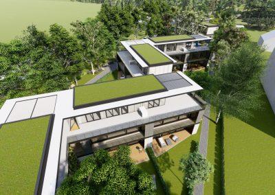 VillaparkAkarattya - látványkép - épületek elrendezése felülnézetből