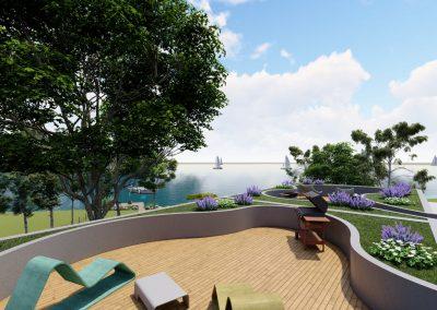 VillaparkAkarattya - látványkép - tetőterasz